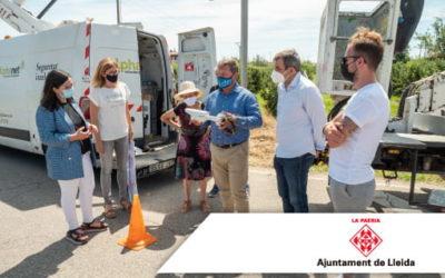 La Paeria instal·la les primeres càmeres de seguretat amb lectura de matrícules a l'Horta
