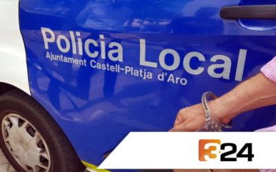 Les càmeres de videovigilància ajuden a resoldre un furt a la Policia Local de Platja d'Aro